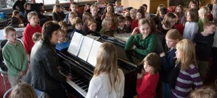 Probe des Kinderchors Frankfurt